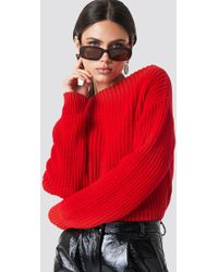 Glamorous - Knitted Sweater Red - Lyst