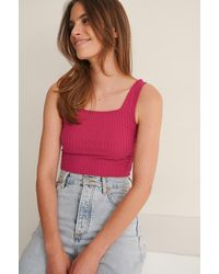 Trendyol Pink Cropped Top - Multicolour