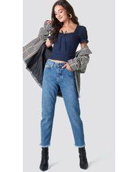 Rut&Circle - Louisa Straight Jeans Mid Blue - Lyst