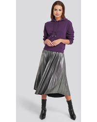NA-KD Party Midi Pleated Skirt - Mehrfarbig