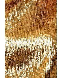 NA-KD Heavy Sequin Blouse - Metallic