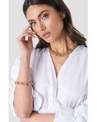 NA-KD Circular Chain Necklace + Bracelet Set Gold - Metallic