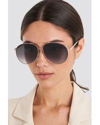 Mango Gold Meagan Sunglasses - Metallic