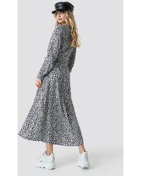 NA-KD Leopard Printed Shirt Dress - Meerkleurig