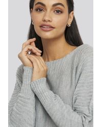 Trendyol Boat Neck Sweater - Grijs
