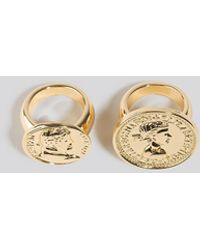 NA-KD Accessories Oversized Coin Ring - Mettallic