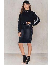Rut&Circle Vicky Cross Skirt - Blue