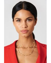 NA-KD - Thin Clover Necklace Gold - Lyst