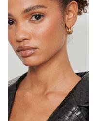 NA-KD Accessories Boucles d'oreilles dépolies épaisses - Métallisé