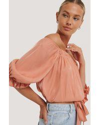 Rut&Circle Schulterfreie Bluse - Orange