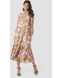 NA-KD Printed Maxi Dress - Multicolore