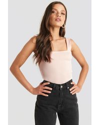 NA-KD - Trend Square Neck Wide Strap Top - Lyst