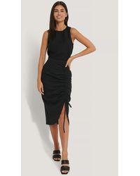 NA-KD Black Drawstring Detailed Skirt