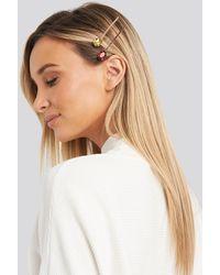NA-KD Double Pack Big Rhinestone Hair Pins - Metallic