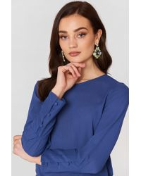 Mango - Buttoned Sleeves Blouse - Lyst