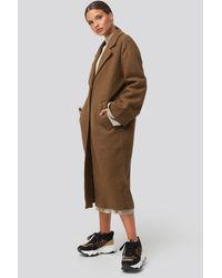 NA-KD - Big Button Long Coat - Lyst