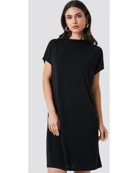 NA-KD Jersey Cap Sleeve Dress - Zwart
