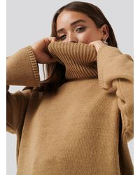 NA-KD Wide Sleeve Oversized Roll Neck Sweater - Mehrfarbig