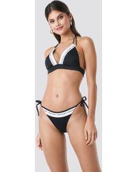Calvin Klein - String Side Tie Bikini Black - Lyst