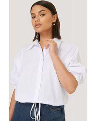 Trendyol White Drawstring Detail Shirt