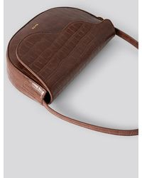 NA-KD Accessories Half Moon Saddle Flap Shoulder Bag - Braun