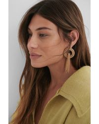 NA-KD Accessories Asymmetric Cage Earrings - Mehrfarbig