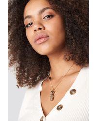 Mango - Ëurope Necklace Gold - Lyst