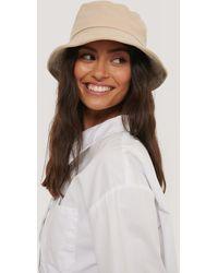 NA-KD Beige Bendable Edge Bucket Hat - Natural