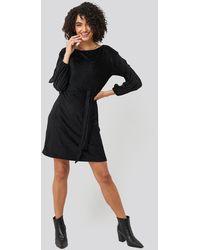 Trendyol - Textured Belted Mini Dress - Lyst