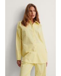 NA-KD Yellow Organic Oversized Dropped Shoulder Shirt
