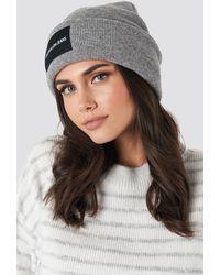 Calvin Klein J Institutional Beanie Hat - Grijs