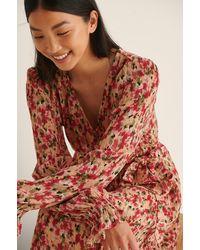 NA-KD Boho Maxi-jurk Met V-hals - Meerkleurig