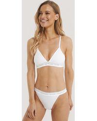 Calvin Klein Triangel-Bh - Weiß