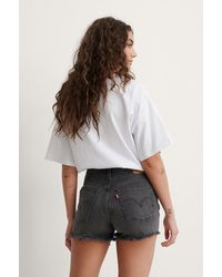 Levi's Grey 501 High Rise Shorts - Black