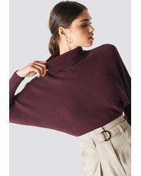 NA-KD Folded Knitted Sweater - Lila