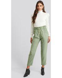 Trendyol Binding Detailed Pants - Groen