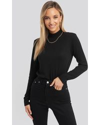 Trendyol Turtleneck Knitted Top - Zwart
