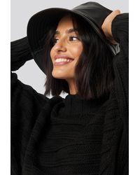 NA-KD Accessories PU Bucket Hat - Schwarz