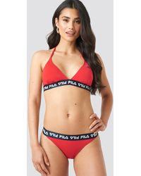 Fila - Sally Bikini Top X Na-kd Red - Lyst