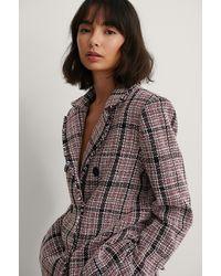 NA-KD Tweed Blazer - Meerkleurig