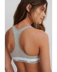 Calvin Klein Bralette Modern Cotton - Grau