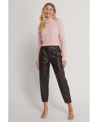 Trendyol Pink Cropped Knit Sweater