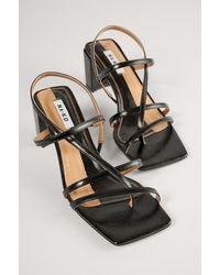 NA-KD Shoes Schuhe Mit Block-Absatz Und Riemchen - Schwarz