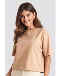 NA-KD Basic Oversize-T-Shirt - Natur