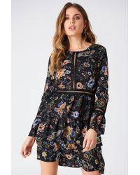 Liquorish - Floral Print Mini Dress - Lyst