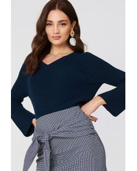 Mango - Flared Sleeve Ribbed Jumper - Lyst