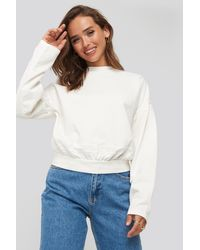 NA-KD Contour Seam Deatil Sweater - Weiß