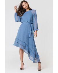 Keepsake - Hideaway Ls Dress Steel Blue - Lyst