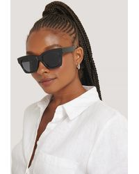 NA-KD Rounded Squared Sunglasses - Zwart