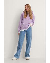 NA-KD Purple Basic Hoodie